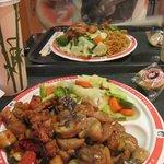 Kung Pao Chicken, Mushroom Chicken and Veggies :-)