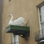 Iconic sign for the Swan Hotel in Wells
