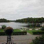 Uitzicht vanaf hotel op Hagameer