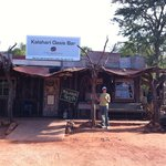Kalahari Oasis Bar - just 'up the road' from the bush camp