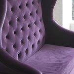 Uncomfortable Purple Sofa