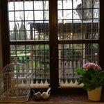 finestra con vista giardino
