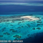 Middle Cay Great Barrier Reef Cairns as seen by air during a reef scenic flight