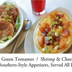 """Shrimp & Cheesy Grits"" with ""Fried Green Tomatoes"""