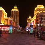 Trade streets at night