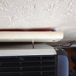 Heater hanging off wall