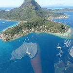 View of Bora from the helicopter