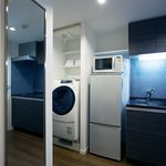 Washing machine, dryer, freezer, fridge, microwave and a very good kitchen