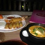 Appetizer and Tom Yum Goong - so delicious