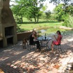 Thatch Chalet private braai area