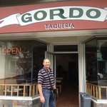 Gordon out the front of Gordo Taqueria