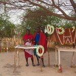 masai bij de tent