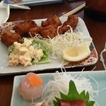 Fried Oyster and Sashimi special  and Sushi