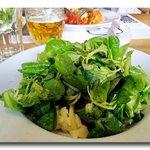 Der schon fast Legendere Grüne Salat mit Steirischen Kürbiskernöl