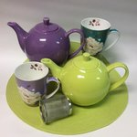 Largest selection of tea ware in the Maritimes.