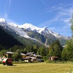 View from Chalet Blanche towards Mont Blanc