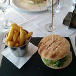 Huge burger , chips were awesome
