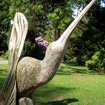Chainsaw carving in NZ Garden