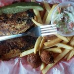 Grilled Tilapia, Fries & Coleslaw