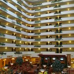 Hotel building from inside