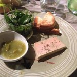 Foie gras, chutney a la tomate verte