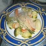 pavé de saumon et ses légumes vapeur