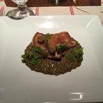Foie-gras poêlé lentilles vertes du berry