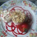 nougat glacé coulis de fruits rouges