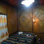The wooden walls of our bedroom