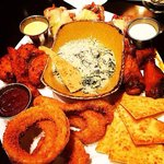 JUMBO COMBO-Signature Wings, Onion Rings, Tupelo Chicken Tenders, Spinach Artichoke Dip w/Parmes