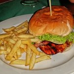 BBQ Chicken Burger!! 2 thumbs up