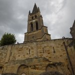 The bell tower of the Monolithic church of St Emilion