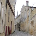 walking towards the bell tower. St Emilion