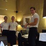 Charming breakfast staff.