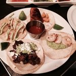 The Tacos- Four Amazing Flavors on One Plate!