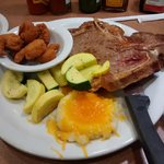 T-bone Steak and shrimp