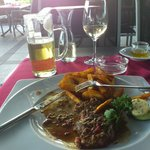 My food at the restaurant