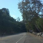 One of the narrowing, winding roads that takes you through the mountains