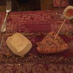 Salmon and cauliflower soufflé