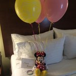 I let hotel know ahead of time it was my daughters bday trip to Disney... This was waiting for h