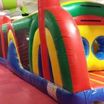 Five full size bounce houses allowing young people to bounce to their hearts content.