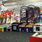 Football, basketball, baseball, air hockey and all kinds of challenging games!