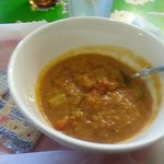 Red Bean lentil soup with curry