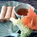 This very tasty and beautiful spring roll appetizer was included with our lunch entrees