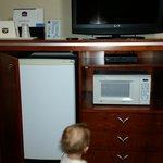 handy fridge and microwave