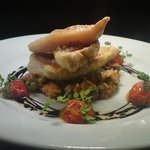 Red mullet fillets with mediterranean risotto