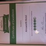 Trip Advisor  2014 award of excellence
