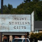 Looks like the original sign for Mt. St. Helen's Gifts.