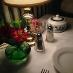 Evening table setting