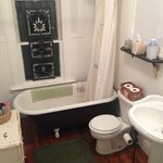 Here's the very clean bathroom for the rooms with baths.